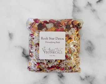 SALE - Rock Star Detox - Detoxifying Bath - Rustic Herbs & Sea Mineral Salt Soak 5 oz - Organic Bath Salts by Angel Face Botanicals