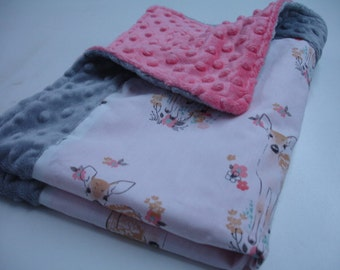 Fawn Baby Security Blanket Lovey 18 x 24 READY TO SHIP