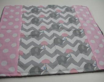 Here is My Umbrella Minky Baby Burp Cloth 15 x 16 READY TO SHIP