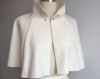 Ivory Fleece Capelet Medium