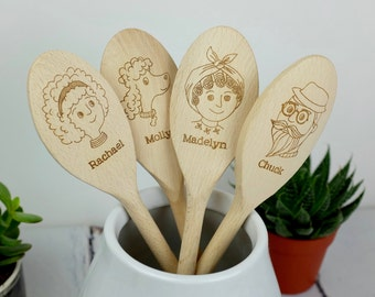 Personalised Wooden Spoon - Baking Gift -  Gift for Mum - Personalized gift - Birthday - Anniversary - Wedding