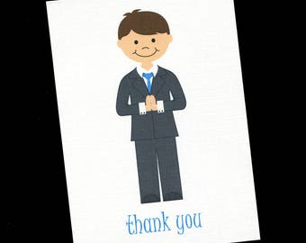 First Communion Thank You Cards - First Communion - Thank You Cards - Boys Thank You Cards - Communion Boy - Set of 20
