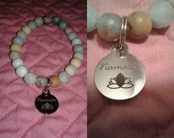 Buddha Amazonite Namaste Bracelet