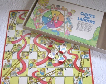 chutes and Ladders . board game . children's board game . retro board game . 1979