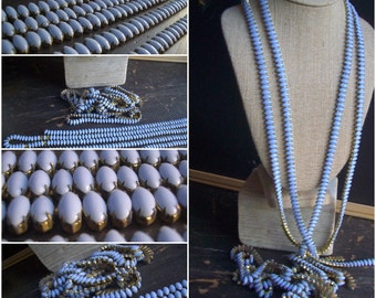 Vintage Blue Set Stone Chain