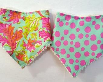 Baby Girl Bandana Bibdana Bib Tula Pink  Choice of Pattern