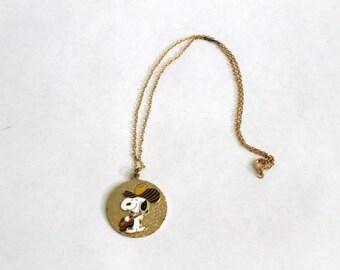 Vintage Snoopy Cowboy Necklace