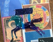 The Sign of the Zodiac Vintage Astrology and Horoscope Collage, Scrapbook and Planner Kit Number 2410