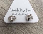 Herkimer Diamond Earrings Diamond Stud  Earrings April Birthstone Jewelry Post Earrings Daniellerosebean Rustic Bridal Earrings