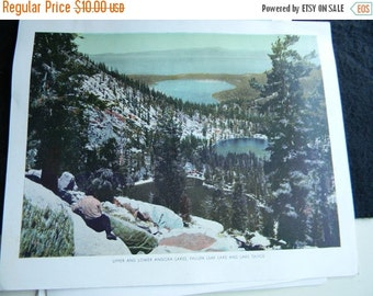 Holiday Sale Two Vintage Lake Tahoe, California book Plates