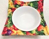 RESERVED FOR KR, Microwave Bowl Cozy, Stocking Stuffer, Teacher Gift, Friendship Gift, Leftovers, Pot Holder, Vegetables