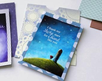 Card Making Printable - Sentiment - I Thank My Lucky Stars - Gift For Friend - DIY - Printable Cards - Printable Art - 5x7 - Art Printables