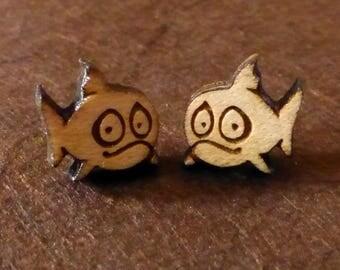 Fish Wooden Earrings