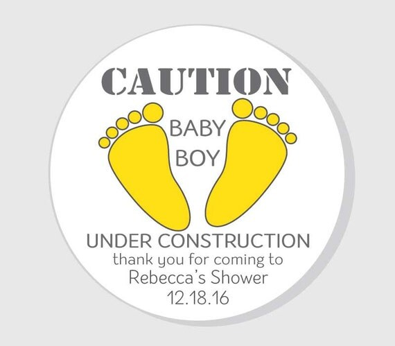 Baby Gift Under $5 : Baby under constructions thank you for coming shower