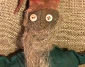 Extreme Primitive Santa; rustic grungy primitive cupboard tuck doll decor by Starry Nites Farm; ADO; OFG; Nooga; Hafair; Team Haha; Mha