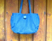 CUSTOM LISTING for CECILIA  //  Denim Urban Chic Handbag with Long Straps