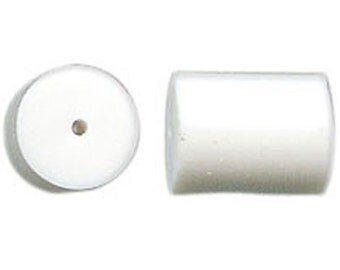 White Rubber Earring Back Components Stoppers French Wire Keepers 50 pcs F233