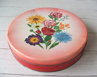 Vintage Floral Tin by Olive Can Chicago