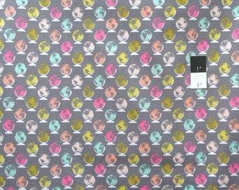 Erin McMorris PWEM085 Noteworthy Globe Trot Smoke Cotton Fabric By The Yard