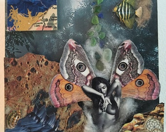 Faerie collage--original fine art