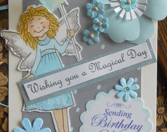 Fairy Birthday Collage Tag