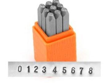 """Sans Serif Metall Anzahl Schmuckset benutzerdefinierte Stempel ImpressArt Stempel Set 1/8"""" Stahl Punsch 0-8 3MM"""