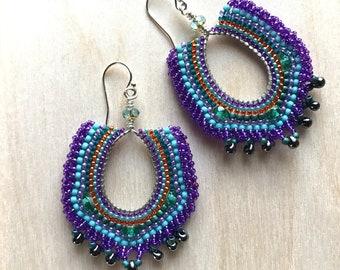 Purple Bollywood Inspired Earrings