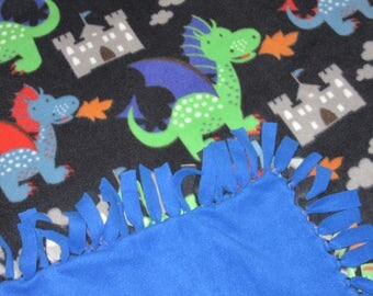 Tied Fleece Blankets - Dungeons and Dragons