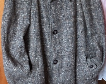VINTAGE TWEED COAT, wool overcoat, unisex, winter wear, classic style, fashion
