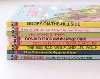 Vintage Disney books set of 8 Goofy Snow White Pinocchio