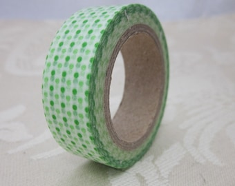 Green and White Spot Washi Tape