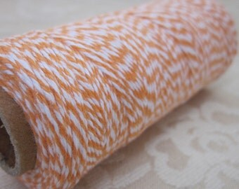 125m Orange and White Cotton Bakers Twine