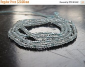 Final 51% off Sale Aquamarine Gemstone Rondelle Blue Faceted 2mm 320 beads Full Strand