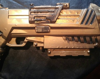 Gold Steampunk Recycled Nerf Gun