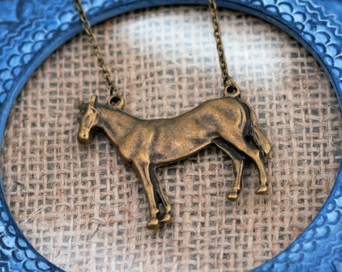 Horse Necklace, Colt Necklace, Animal Necklace