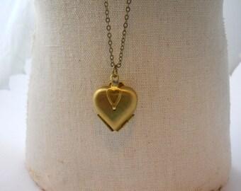 Folding Vintage Heart LOCKET Brass Women's Necklace Jewelry Four Photo Love Locket Clover 4 Way Locket Lovers Friends BFF Jewelry Memories