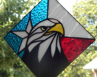 Patriotic Eagle Suncatcher - Red/White/Blue