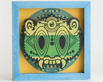 Screenprinted Ceremonial Mask - Green