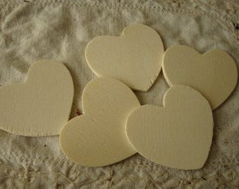 """Wood hearts 2"""" unfinished wooden hearts DIY wedding party favor supplies rustic wedding embellishments heart ornaments wood kids crafts"""