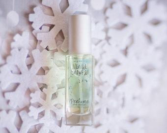 Vanilla Snowfall Perfume   Artisan Perfume with Notes of Vanilla, Musk, Orchid, and Wood