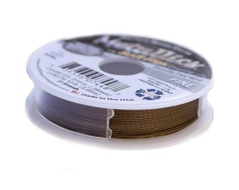 Soft Flex Metallics Beading Wire .014 in 10ft Antique Brass Fine Metallics Wire, Soft Flex Wire Metallics Beading Wire Medium SoftFlex 41372