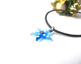 Blue Starfish Evil Eye Pendant
