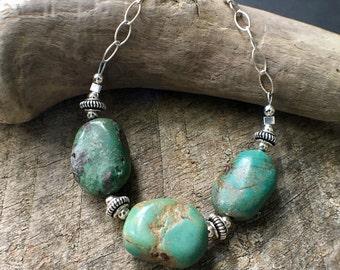 Turquoise Bracelet, Turquoise Sterling Silver Bracelet, Southwest Bracelet