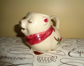 Rare Kitsch Shawnee Pig Creamer Raspberry Blosom