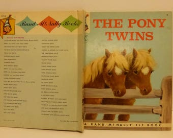 Vintage Tip Top Elf Book The Pony Twins by Helen Wing Illustrated by Marjorie Cooper