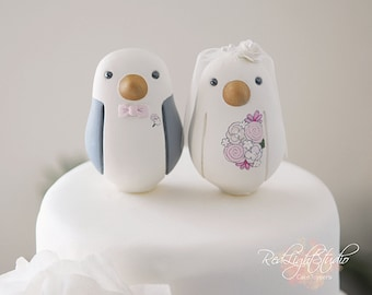 Wedding Cake Topper - Custom - Medium Love BIrds