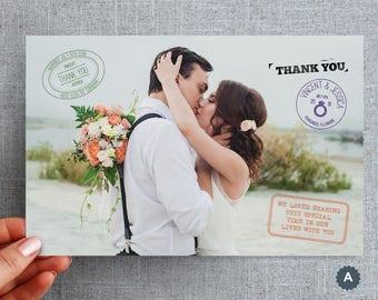"50+ Oversized, Wedding, Thank you, Card, Postcard, Passport, Destination ""Passport Style"""