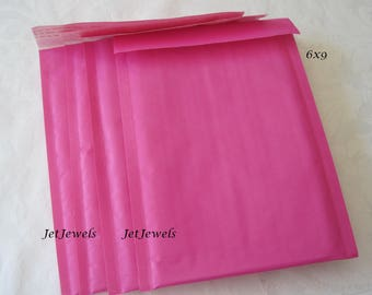 25 Hot Pink Padded Mailers, Pink Bubble Mailers, Mailing Envelopes, Shipping Envelopes, Kraft Mailer, Shipping Supplies, Self Sealing 6x9