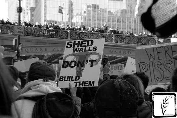 """Shed Walls,"" New York City Women's March, 2017."