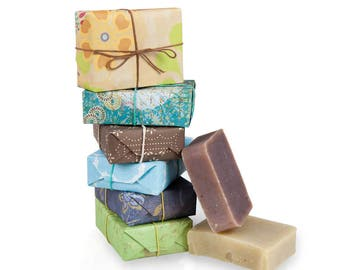 JenSan 6-piece Organic Soap Gift Set - made with shea butter and essential oils, Free Shipping